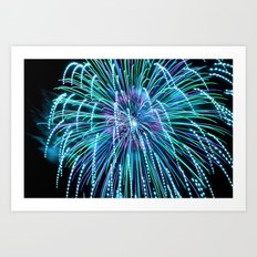 Teal New Year Art Print