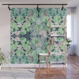 Dark Tropics Pattern by Kristen Baker Wall Mural