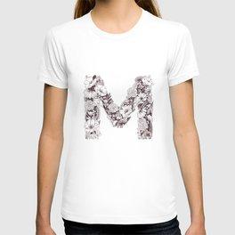 M botanical monogram T-shirt