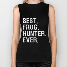 best grog hunter ever funny bullfrog gigging hunt Biker Tank