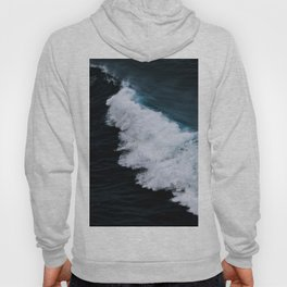 Powerful breaking wave in the Atlantic Ocean - Landscape Photography Hoody