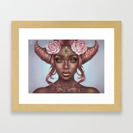 Taurus - The Star Sign Framed Art Print