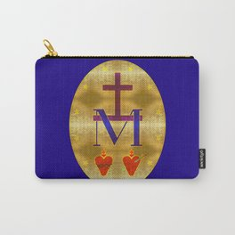 Gold Leaf Miraculous Medal Carry-All Pouch