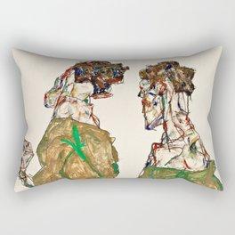 Egon Schiele - Devotion Rectangular Pillow