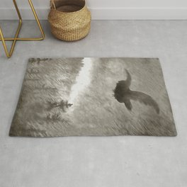 Stealth And Surprise Of The Night Owl Rug