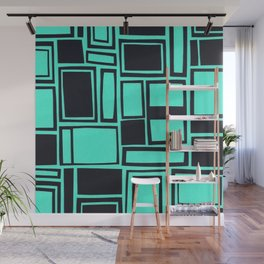 Windows & Frames - Teal Wall Mural