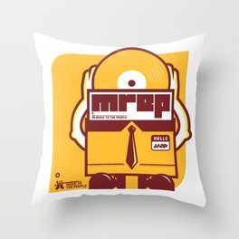 UNDO | Music to the people 10 Throw Pillow