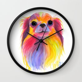 Nosey Dog Chihuahua ' TiLLY ToTS ' by Shirley MacArthur Wall Clock