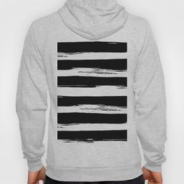Paint Stripes Black and White Hoody