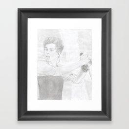 Luke 5 Seconds in Concert Drawing Framed Art Print