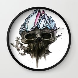 Death of the Crystal King Wall Clock