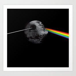 Dark side of Deathstar Art Print