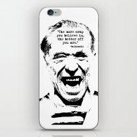 bukowski iPhone & iPod Skins featuring Charles Bukowski Quote Crap by Fligo