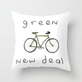 Green New Deal Throw Pillow