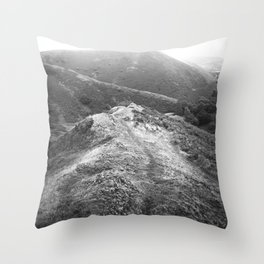 Over the hill. Throw Pillow