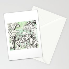 Green and Leafy Stationery Cards