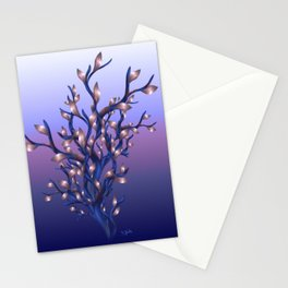 The Resolutions Tree at Dawn Stationery Cards