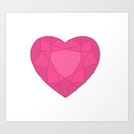 Crystal Heart Art Print