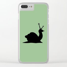 Angry Animals - Snail Clear iPhone Case