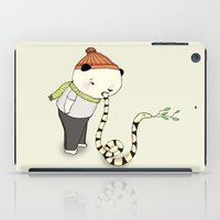 snake iPad Cases featuring snake by Maria Alliaud