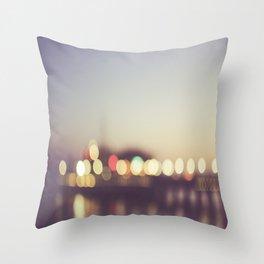 Santa Monica Pier Bokeh Throw Pillow