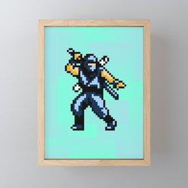8bit Ninja Framed Mini Art Print