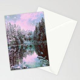 A Cold Winter's Night Sage Winter Wonderland Stationery Cards
