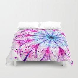 Winter Pink glittered Snowflake Duvet Cover