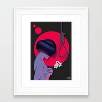 blossom Framed Art Prints featuring Blossom by Musya