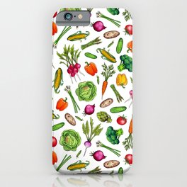 Vegetable Garden - Summer Pattern With Colorful Veggies iPhone Case