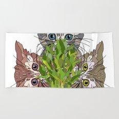 Lucky Kitten Bamboo Beach Towel