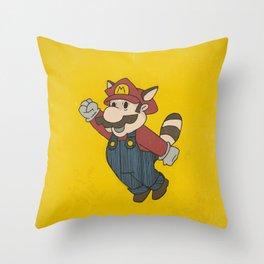 Super Mario Racoon Throw Pillow
