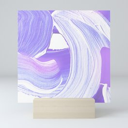 Shades of Purple Brush Stroke pattern #abstractart Mini Art Print