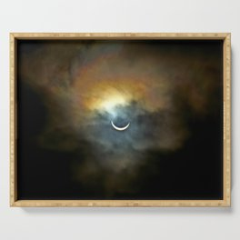 Solar Eclipse II Serving Tray