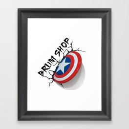 BS- Capt. America Framed Art Print