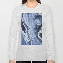 Marble Ice Indigo Long Sleeve T-shirt