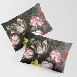 Flowers In A Vase With Shells And Insects Pillow Sham