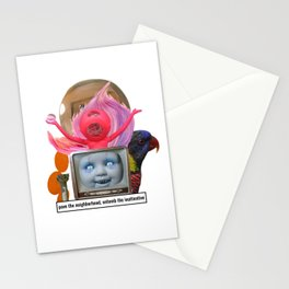 pave the neighborhood, entomb the inattentive Stationery Cards