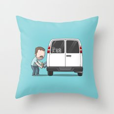Family Car Sticker Throw Pillow