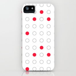 Red dots iPhone Case