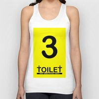 toilet Tank Tops featuring TOILET CLUB #3 by Toilet Club