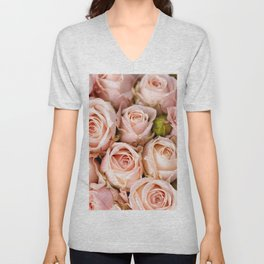 Marvelous Amazing Corsage Of Violet Flower Petals Zoom UHD Unisex V-Neck