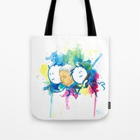 guardians Tote Bags featuring Guardians by Krister Vikstrom