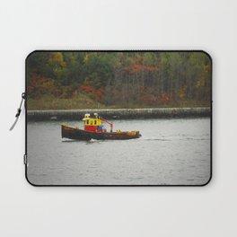 Boat Passing Light House Laptop Sleeve