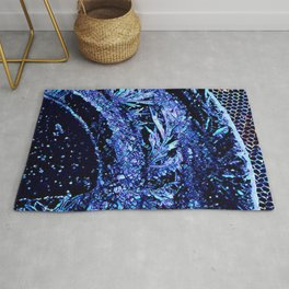 Got Frost Purple Teal by CheyAnne Sexton Rug