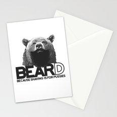 Bear and beard Stationery Cards