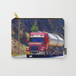 Truckers Big Rig Fuel Tanker Truck Carry-All Pouch