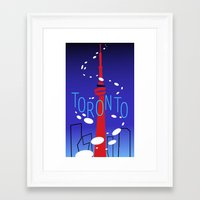 toronto Framed Art Prints featuring Toronto by Maygen Kerrigan