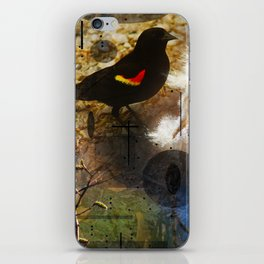 life thru the eyes of a red winged blackbird iPhone Skin