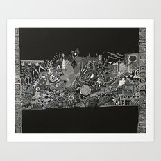 Blanco and Black Art Print